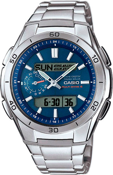 Мужские часы Casio WVA-M650D-2A casio часы casio wva m650d 2a коллекция wave ceptor