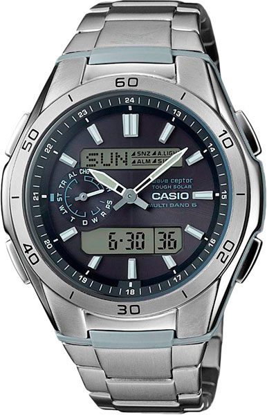 Мужские часы Casio WVA-M650TD-1A casio wave ceptor wva m650td 1a