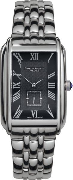 Мужские часы Charles-Auguste Paillard 102.200.11.36B charles auguste paillard часы charles auguste paillard 102 200 11 36s коллекция rectangular quartz