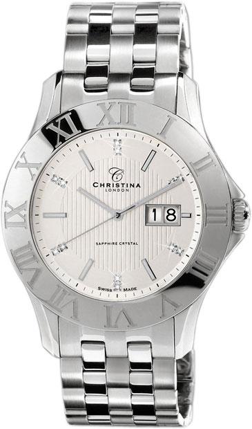 Купить Наручные часы CHL-514SW  Мужские наручные швейцарские часы в коллекции Circle-Oval Christina London