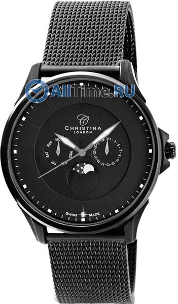 Купить Наручные часы CHL-517BLBLBL-Mesh  Мужские наручные швейцарские часы в коллекции Circle-Oval Christina London
