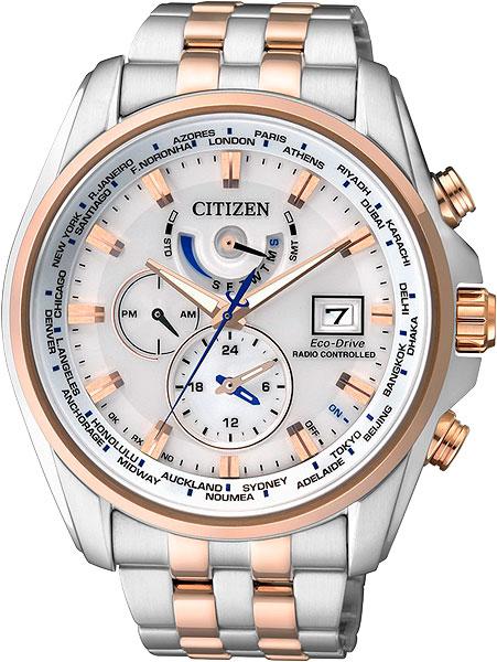 Мужские часы Citizen AT9034-54A citizen наcтольный белый салатовый