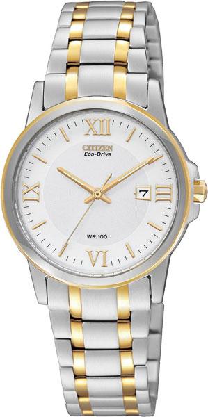 Женские часы Citizen EW1914-56A citizen наcтольный белый салатовый