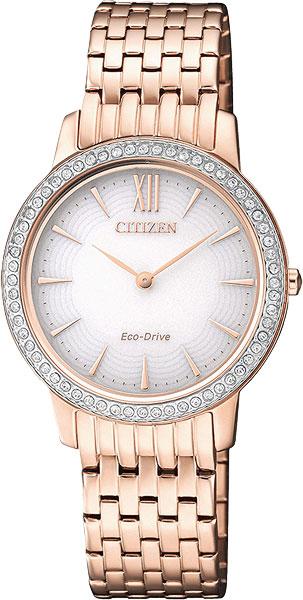Женские часы Citizen EX1483-84A citizen наcтольный белый салатовый