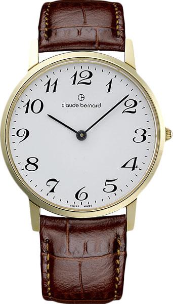 Мужские часы Claude Bernard 20060-37JBB claude bernard часы claude bernard 20202 37jbb коллекция classic slim line