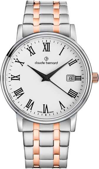 Фото - Мужские часы Claude Bernard 53007-357RMBR бензиновая виброплита калибр бвп 13 5500в