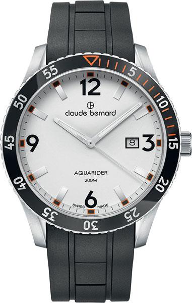 Мужские часы Claude Bernard 53008-3NOCAAO claude bernard часы claude bernard 53008 3nvcanv коллекция aquarider