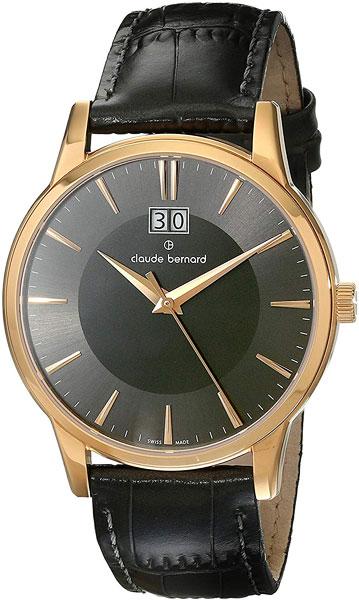 Мужские часы Claude Bernard 63003-37RGIR