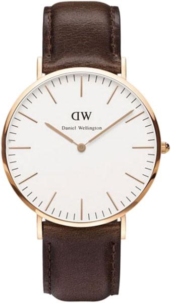 Мужские часы Daniel Wellington classic-cardiff-gold ремешок для часов daniel wellington dw00200073