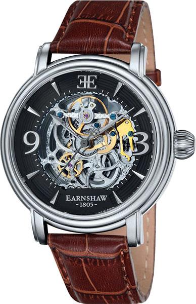 Мужские часы Earnshaw ES-8011-02 купить часы мужские с открытым механизмом