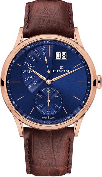 Мужские часы Edox 34500-37RBUIR газонокосилка робот bosch indego 350 06008b0000