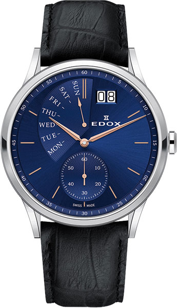 Мужские часы Edox 34500-3BUIR цена и фото