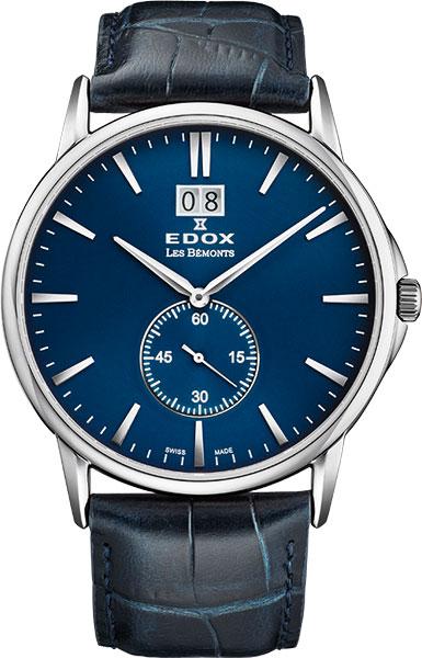 Мужские швейцарские наручные часы Edox 64012-3BUIN