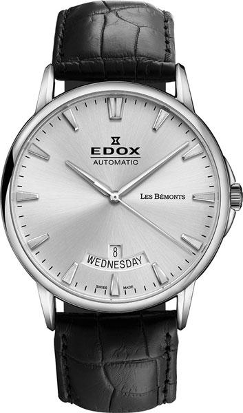 Купить Наручные часы 83015-3BIN  Мужские наручные швейцарские часы в коллекции Les Bemonts Edox