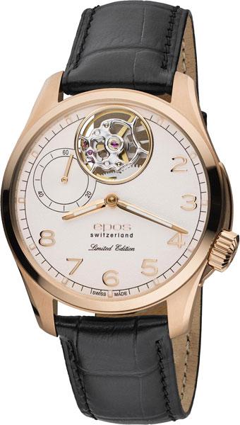 Мужские часы Epos 3434.183.24.38.25 u7 2016 новая мода силиконовая и нержавеющая сталь браслет мужчины изделий 18k позолоченный браслеты