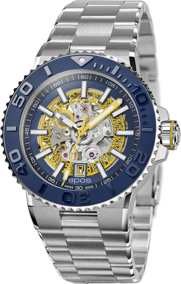 Швейцарские мужские часы в коллекции Sportive Мужские часы Epos 3441.135.96.16.30 фото