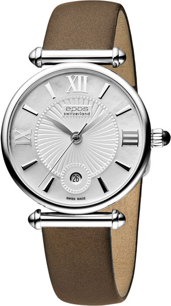 Женские часы Epos 8000.700.20.68.87 женские часы sanda с натуральной кожаной погодой женские модные знаменитые наручные часы с бриллиантами