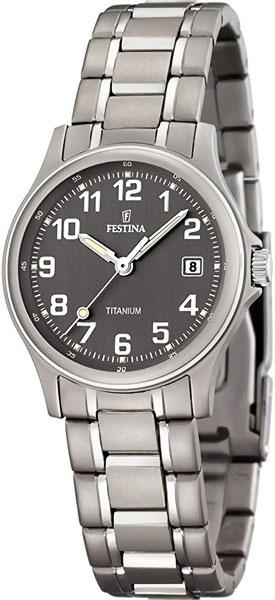 Женские часы Festina F16459/2 festina fashion наручные женские часы festina 16459 1 коллекция calendario titanium