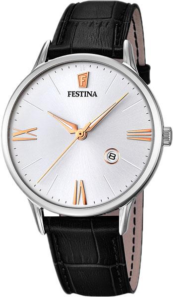 Мужские часы Festina F16824/2 u7 2016 новая мода силиконовая и нержавеющая сталь браслет мужчины изделий 18k позолоченный браслеты