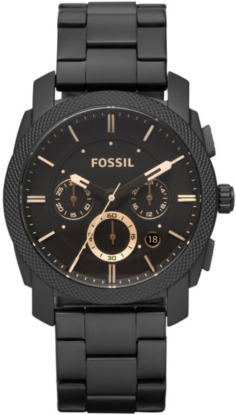 Мужские часы Fossil FS4682 30m waterproof stainless steel band analog digital led quartz wrist watch silver 1 x 2035