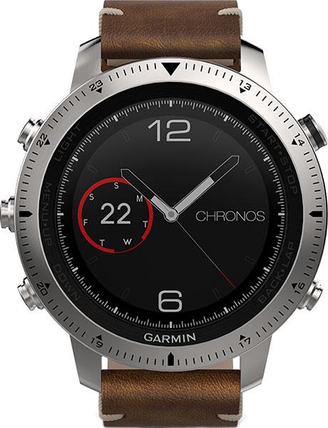 Мужские часы Garmin Fenix Chronos leather
