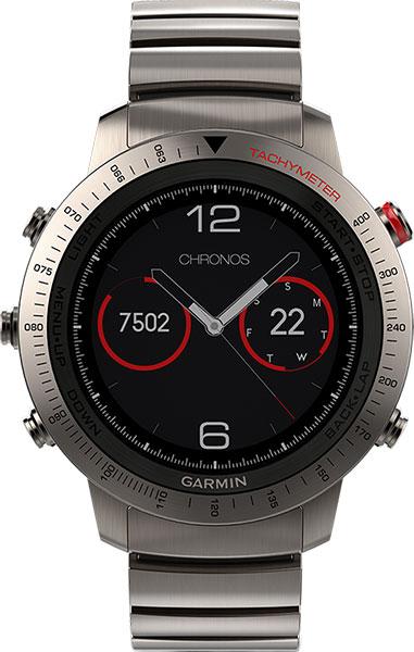 купить Мужские часы Garmin Fenix Chronos titanium по цене 139440 рублей