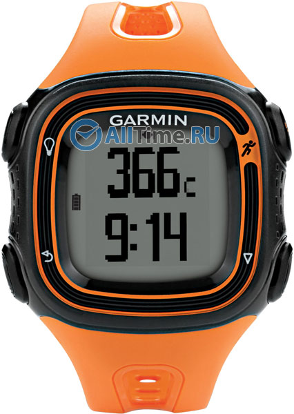 Мужские часы Garmin Forerunner 10 Orange/Black garmin forerunner 235 black frost blue 010 03717 49