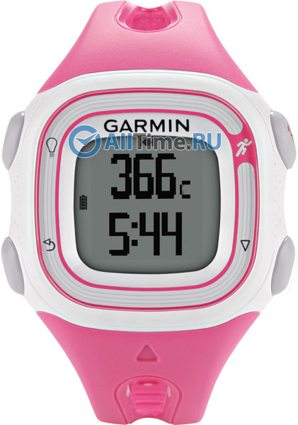 Мужские часы Garmin Forerunner 10 Pink/White gps туристический garmin forerunner 25 small white pink 010 01353 31