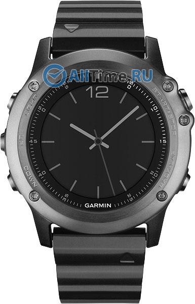 Мужские часы Garmin Fenix-3-Sapphire-HRM garmin fenix 5s sapphire шампань с серым ремешком