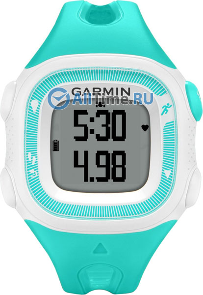 Мужские часы Garmin Forerunner 15 Teal/White HRM garmin смарт часы forerunner 920xt white red hrm run