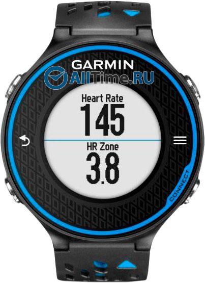 Мужские часы Garmin Forerunner-620-Black/Blue-HRM-Russia garmin умные часы forerunner 220 blk red russia hrm3 пульсометр 010 01147 68