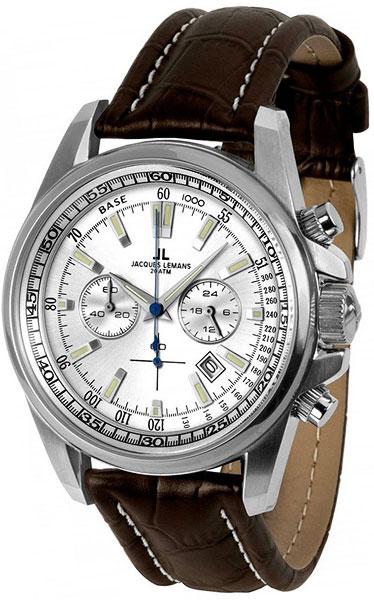 Мужские наручные швейцарские часы в коллекции Sports Jacques Lemans