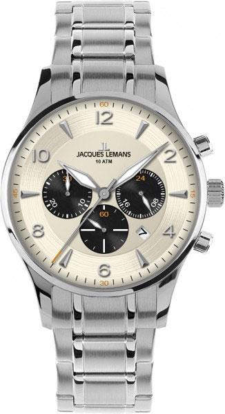 цена Мужские часы Jacques Lemans 1-1654M онлайн в 2017 году