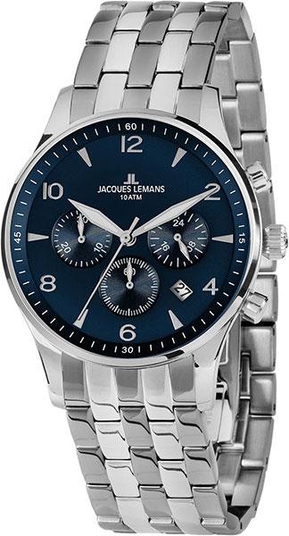 цена Мужские часы Jacques Lemans 1-1654ZG онлайн в 2017 году