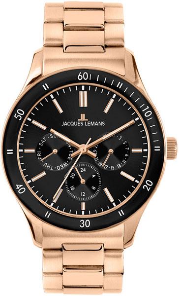Купить Наручные часы 1-1691ZK  Мужские наручные швейцарские часы в коллекции Sports Jacques Lemans