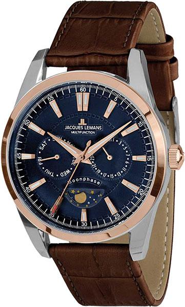 Мужские часы Jacques Lemans 1-1901D jacques lemans часы jacques lemans 1 1901d коллекция moonphase