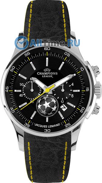 Купить Наручные часы U-32A1  Мужские наручные швейцарские часы в коллекции UEFA Jacques Lemans