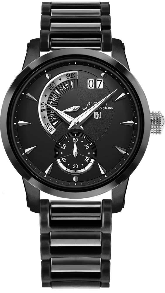 Мужские часы L Duchen D237.70.31 44mm parnis 316l stainless steel screw pvd case fit 6498 6497 movement