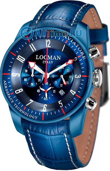 Мужские часы Locman 0450BLBLFWRBPSB locman мужские итальянские наручные часы locman 0510bkbkfyl0goy