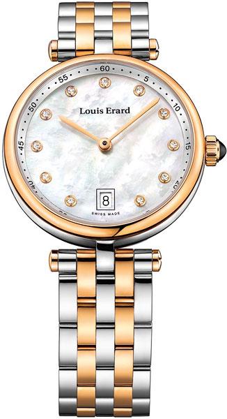 Купить Наручные часы L11810AB24M  Женские наручные швейцарские часы в коллекции Romance Louis Erard