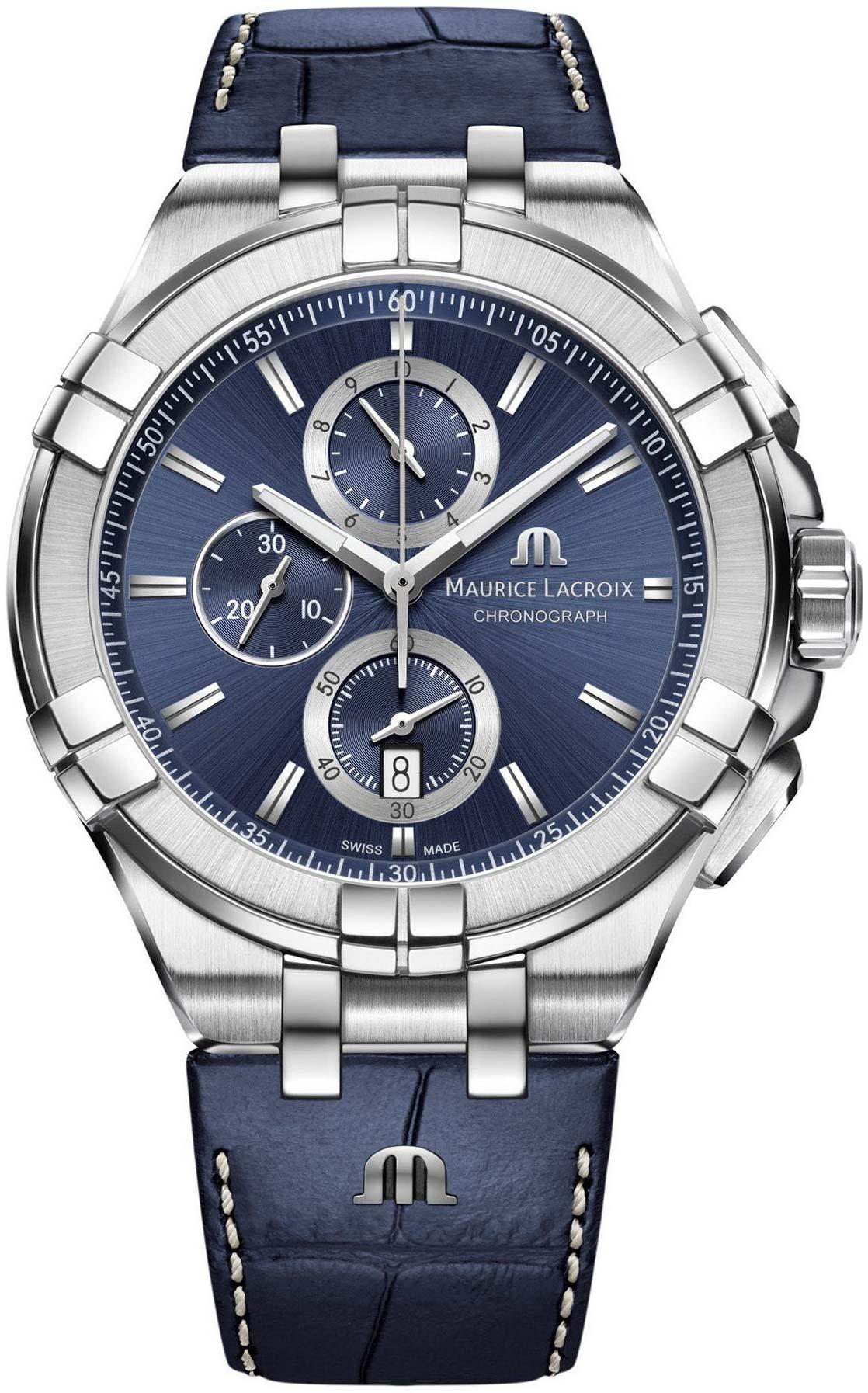 Фото «Швейцарские наручные часы Maurice Lacroix AI1018-SS001-430-1 с хронографом»