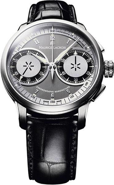 Фото «Швейцарские механические наручные часы Maurice Lacroix MP7128-SS001-320 с хронографом»
