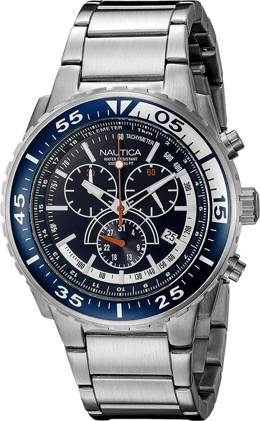 лучшая цена Мужские часы Nautica N16655G