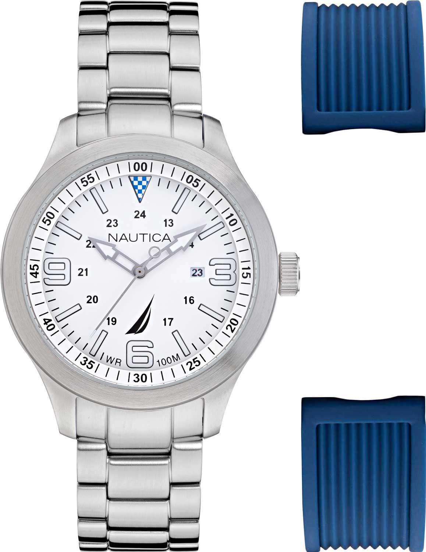 Фото - Мужские часы Nautica NAPPLS020 мужские часы nautica napfrb923