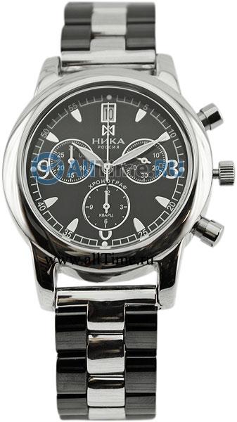 Российские серебряные наручные часы Ника 1806.0.9.54H.01BL с хронографом 8160421e47f