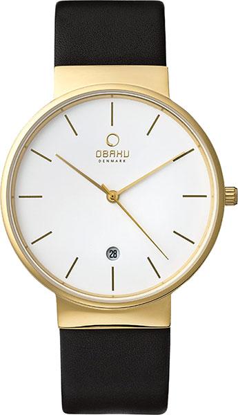 Мужские часы Obaku V153GDGWRB чехол df для samsung galaxy m11 black sflip 66
