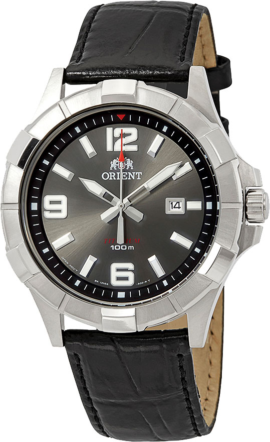 Мужские часы Orient UNE6002A garmin vivomove premium со стальным корпусом и кожаным ремешком золотистые