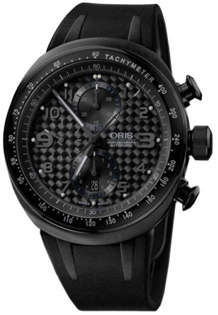 Мужские швейцарские механические титановые наручные часы Oris 674-7611-77-64RS с хронографом