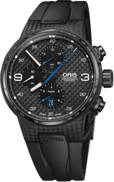 Мужские швейцарские механические титановые наручные часы Oris 674-7725-87-84-set с хронографом