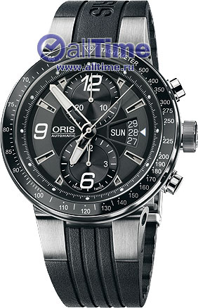 Мужские швейцарские механические наручные часы Oris 679-7614-41-64RS с хронографом